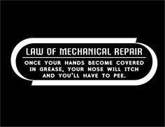 dieseltees.com Image of Law Of Mechanical Repair T Shirt