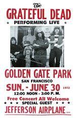 Grateful Dead Golden Gate Park Concert Poster