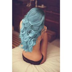Sirena Pastel Blue hair dye A Gorgeous Mermaid Like Color! ($12) ❤ liked on Polyvore featuring beauty products, haircare, hair color and hair