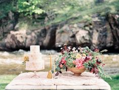 River Bend Lyons Wedding, Megan Joy Cakes, Bare Root Flora, Styled by A Vintage Affair Events, Photographed by Rachel Havel