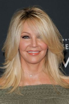 50 Hairstyles That Will Make You Look Younger heather locklear Hairstyles Over 50, Celebrity Hairstyles, Straight Hairstyles, Medium Hairstyles, Bob Hairstyles, Shades Of Blonde, Ash Blonde, Blonde Hair, Blond Pony