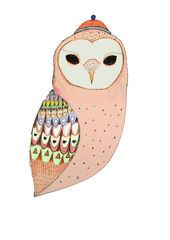 Owl Art print: Barn Owl by Ashley Percival
