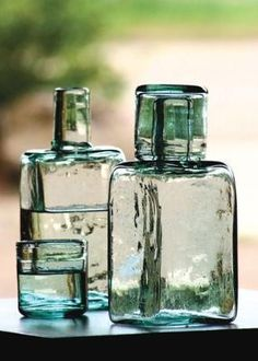 recycled bedside water carafe  barware