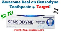 I LOVE this deal!!! Definitely stock up worthy price! Regularly costs $5.39! Awesome Deal on Sensodyne Toothpaste @ Target!  Click the link below to get all of the details ► http://www.thecouponingcouple.com/awesome-deal-on-sensodyne-toothpaste-target/ #Coupons #Couponing #CouponCommunity  Visit us at http://www.thecouponingcouple.com for more great posts!