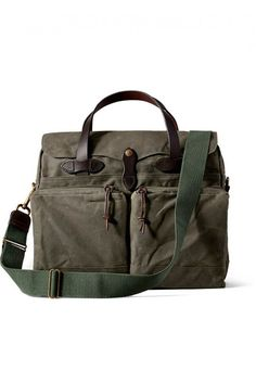 Filson 24 Hour Tin Cloth Briefcase Otter Green