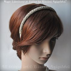 Wedding Headband Silver Ivory Bridal Couture Silver by TianaCHE, $100.00