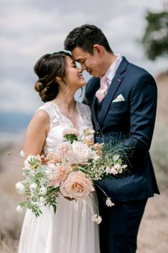 A Dreamy Peach and Blush Summer Wedding in The Okanagan Valley Young Wedding, Bridal Gowns, Wedding Dresses, Beautiful Bouquets, Bridal Boutique, Summer Wedding, Real Weddings, Wedding Planner, Blush