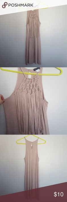 VENUS Tan Summer Dress Cute dress for summer trip. Great condition. VENUS Dresses Mini