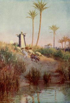 Egypt 1903 By still waters Canvas Art - Robert Talbot Kelly x Life In Egypt, Water Poster, Egyptian Art, Old Art, Islamic Art, Beautiful Paintings, Concept Art, Poster Prints, Canvas Art