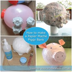 How to make a papier mache piggy bank at home from recycled materials. How to make a papier mache piggy bank at home from recycled materials. The post How to make a papier mache piggy bank at home from recycled materials. appeared first on Paper ideas. Paper Mache Crafts For Kids, Paper Mache Projects, Kids Crafts, Paper Crafts, How To Paper Mache, Projects For Kids, Art Projects, Brisbane Kids, Paper Mache Animals