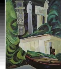 Emily Carr, contemporary of the Group of Seven - Indian Hut, Queen Charlotte Islands, Canadian Group of Seven Tom Thomson, Canadian Painters, Canadian Artists, Emily Carr Paintings, Art Inuit, Group Of Seven Paintings, Art Chinois, Impressionist Paintings, Native American Art