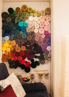 The world's best yarn storage idea | Knits for Life.  i dont really knit but this looks awesome
