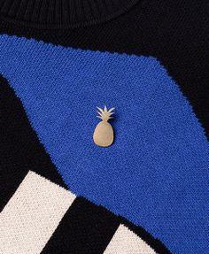 CASA MALASPINA - Brass Palm Tree Pin