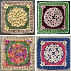 "Making an afghan using this charming afghan bloc is such a delightful idea and ""good for eating popcorn under""! Get the picture? It's so cute!! Winter Wildflowers by Stacey LW Lee is a uniquely designed free crochet pattern that may look really intimidating in the beginning but you pass that fear and focus on the..."