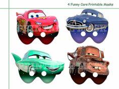 Unique 4 Funny Cars Printable Masks Collection by AmazingPartyShop