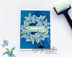 Totally Techniques - Sponge Brayer Blueberry Images, Seed Packets, Cloud 9, Crafty Projects, White Ink, Textured Background, Stampin Up, Card Stock, Berries