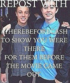 #therebeforecash>>I'm scared they are going to forget about us fans before they got famous. Cam and Nash are already mad at Taylor you can tell the family is tearing apart :,(