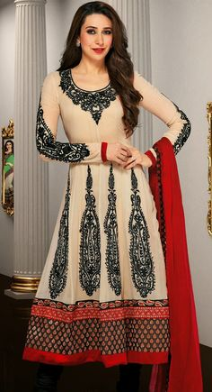 Exquisite Off White Salwar Kameez