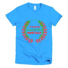 It's Beginning To Look A Lot Like Cocktails Fly Tots Short sleeve women's t-shirt