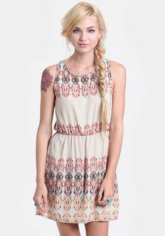 Foreign Travels Ikat Dress at #threadsence @ThreadSence
