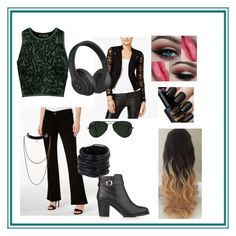 """""""Envious"""" by the-violet-flower on Polyvore featuring M1858, Opening Ceremony, Material Girl, Saachi, Ray-Ban, Beats by Dr. Dre and Kurt Geiger"""