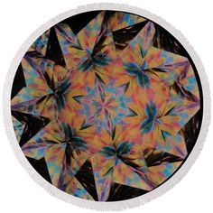 Kaleidoscope Round Beach Towel featuring the photograph Kaleidoscope Op5 by Equad Images