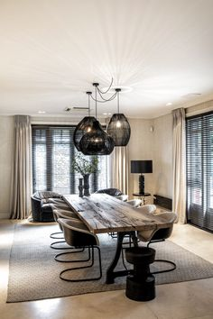 The post Villa Vondelpark appeared first on HOOG.design - Exclusive living inspiration in the United Kingdom. The post Villa Vondelpark appeared first on HOOG.design - Exclusive living inspiration in the United Kingdom. Room Interior, Home Interior Design, Interior Modern, Interior Architecture, Home Living Room, Living Room Decor, Dining Table Design, Dining Room Inspiration, Home Decor Kitchen