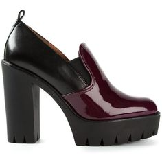 Marc By Marc Jacobs platform booties ($355) ❤ liked on Polyvore featuring shoes, boots, ankle booties, heels, scarpe, black, high heel booties, chunky heel boots, chunky heel booties and black patent leather boots