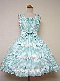 Angelic Pretty / Jumper Skirt / Gingham Shirring JSK
