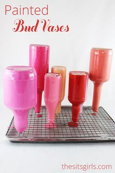 Turn Glass Bottles Into Beautiful & Cool Colorful  Vases With This Cool Painting Technique! For More Cool Tips On Painting Check Out Our Site: http://diyready.com/.