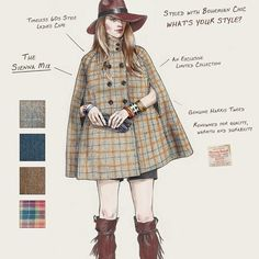 How would you style your Harris Tweed Cocoon Cape? www.cocoonluxe.com #coachella…