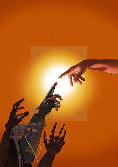 Art by Daniel Garcia - Digital Chance Dolores Abernathy, Madara Susanoo, Homestuck Characters, Steampunk, Orange Aesthetic, Striders, Ex Machina, Cultura Pop, Grafik Design