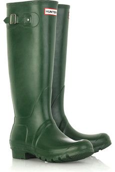 ebb63ab9afda Country-chic starts with a pair of classic green Hunter Wellington boots.  Green Rain
