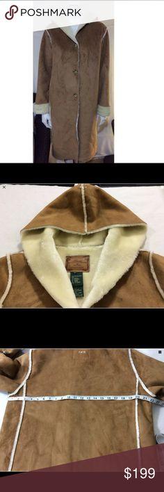 Lauren Ralph Lauren hooded coat Button down Hooded coat with 2 pockets. Front: 100% polyester. Back:78% acrylic, 22% polyester. VERY warm. Lauren Ralph Lauren Jackets & Coats