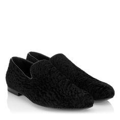 Jimmy Choo - Sloane - 132sloanepnr - Black Persian Shearling Slippers