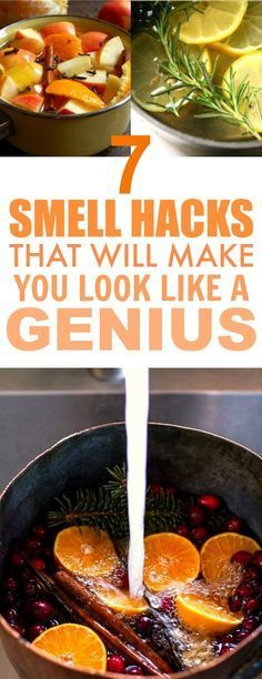 These 7 Genius Smell Hacks are THE BEST! They really are easy and they smell AWESOME! I'm so happy I found this, I know my home is going to smell SO GOOD. Definitely pinning for later!