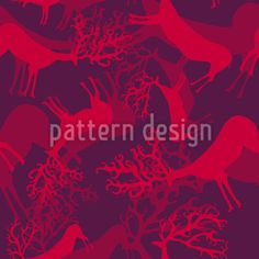 Silhouettes Of Deers Vector Ornament Vector Pattern, Pattern Design, Swiss Design, Anastasia, Silhouettes, Your Design, Ornament, Neon Signs, Patterns