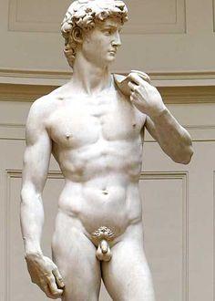 David par Michel Ange. Chef-d'œuvre de la sculpture de la Renaissance, Michel-Ange (1501-1504)