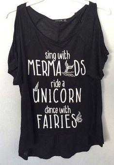 Mermaids cold shoulder graphic tee