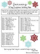 Jan 31 Day Scripture Writing Plan