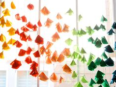 Turn fabric scraps into floral garlands to string in front of a window or above a mirror