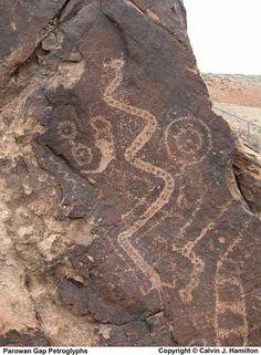 Parowan Gap Petroglyphs     Calvin J. Hamilton