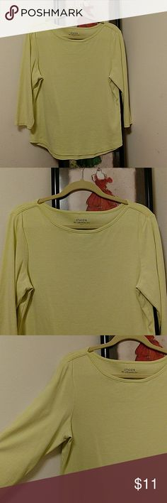 """Chico's The Ultimate Tee Size 3 Chico's ladies T-shirt. The Ultimate Tee. 3/4 sleeve with boat neck styling. Beautiful and comfortable cotton.  Size 2. Across the chest at the underarms is 20.5"""" and from the shoulder to the hemline is 24"""" Chico's Tops Tees - Long Sleeve"""