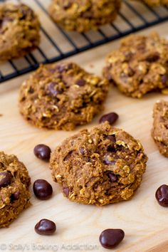 Healthy Oatmeal Raisinet Cookies by Sally's Baking Addiction