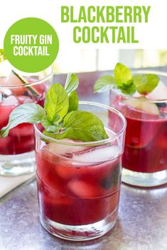 Blackberry Cocktail - this fruity gin cocktail is refreshing and delicious!  The best part?  It makes a pitcher, so it's the perfect summer cocktail!