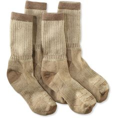 L.L.Bean Cresta Hiking Socks, Midweight Two-Pack ($27) ❤ liked on Polyvore featuring intimates, hosiery, socks, elastic socks, merino wool socks, sweat wicking socks, merino socks and moisture wicking socks