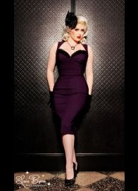 Masuimi Dress in Deep Plum from Pinup Couture