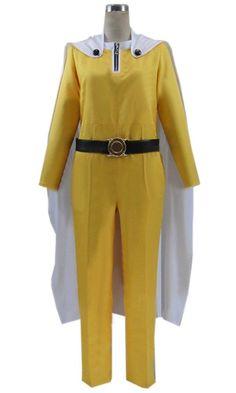 CosEnter One-Punch Man Saitama Uniform Cosplay Costume >>> For more information, visit image link.