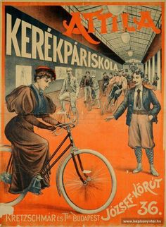 Have it on my wall.one of the best gifts ever :) Retro Advertising, Vintage Advertisements, Vintage Ads, Vintage Posters, Budapest, Bike Illustration, Bike Poster, Retro Bike, Vintage Cycles