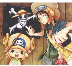 One Piece ~ Monkey D. Luffy and Tony Tony Chopper One Piece 1, One Piece Luffy, One Piece Anime, One Piece Personaje Principal, Zoro, Chopper One Piece, The Pirates, Best Anime Shows, The Pirate King